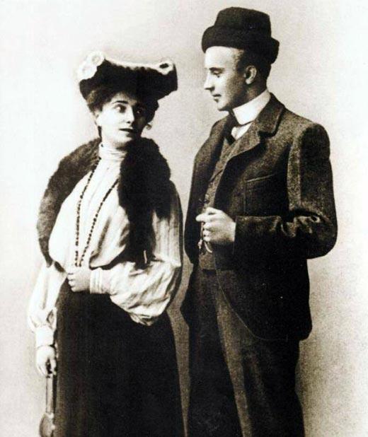 Василий Качалов и Нина Литовцева