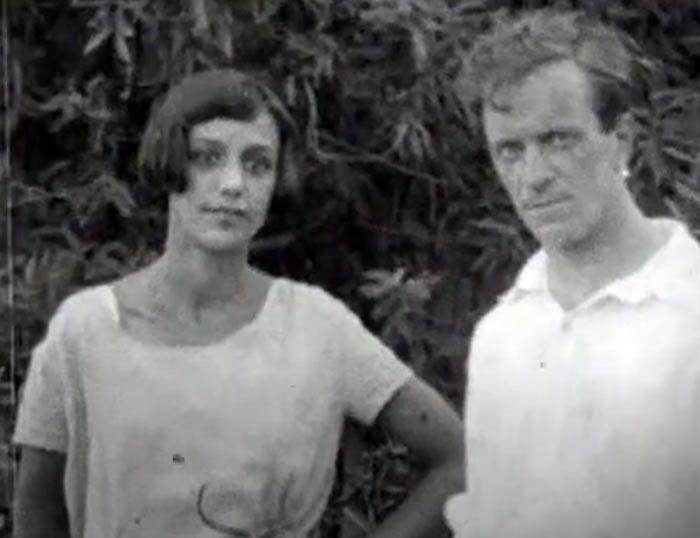 Василий Лебедев-Кумач и жена Кира в молодости