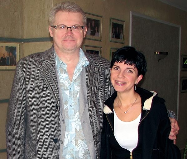 Вячеслав Невинный младший и жена Лариса
