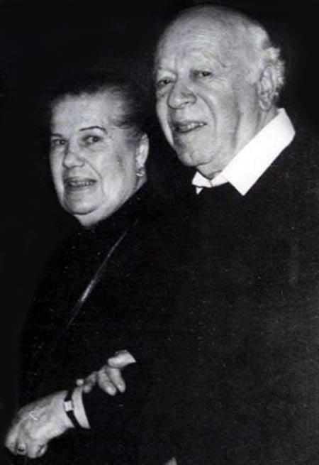 Валентин Плучек и жена Зинаида Дмитриева