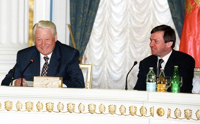 Валентин Юмашев и Борис Ельцин