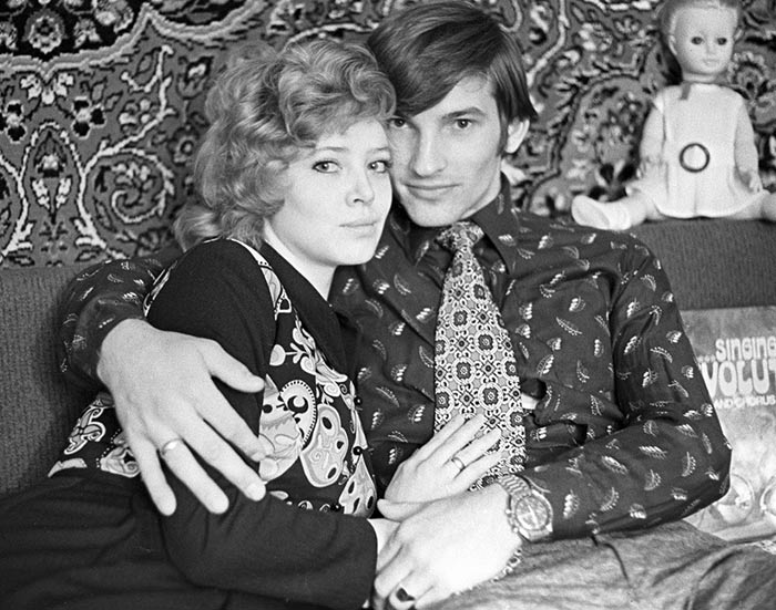 Владислав Третьяк и жена Татьяна