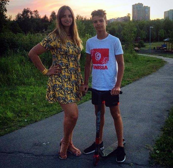 Жена и сын Дмитрия Козельского