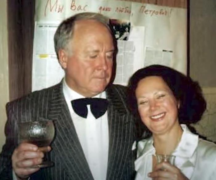 Михаил Любимов и жена Татьяна