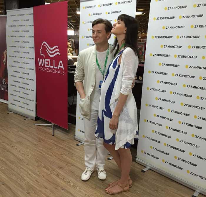 Беременная Анна Матисон и Сергей Безруков