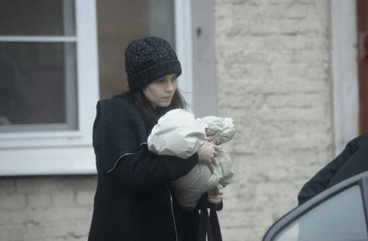 Юлия Снигирь с ребёнком