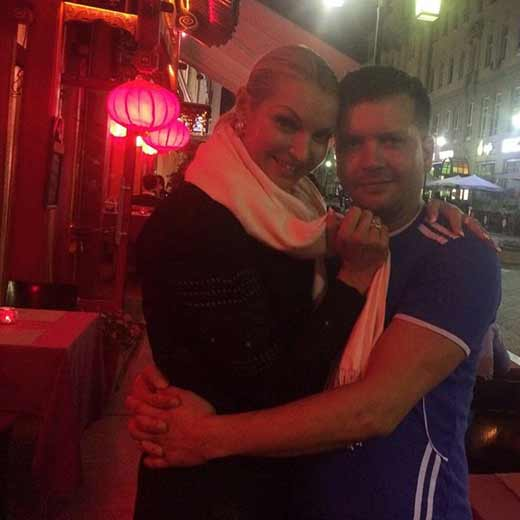 Анастасия Волочкова с Михаилом Борисовским