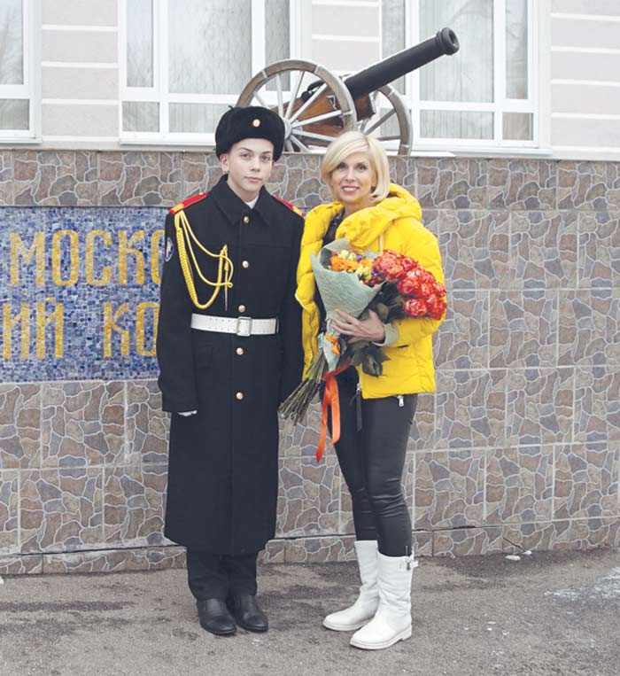 Алена Свиридова с сыном Григорием