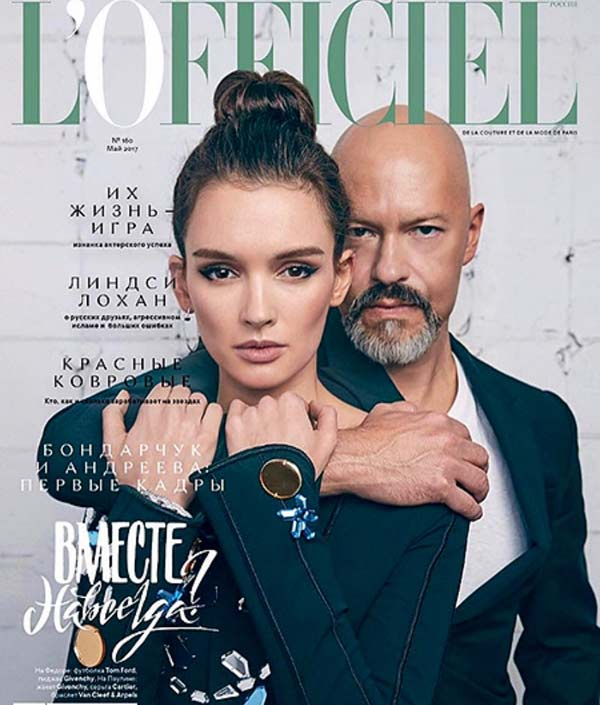 Федор Бондарчук и Паулина Андреева в L'officiel Russia