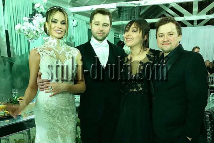 Андрей Гайдулян и Диана Очилова на свадьбе