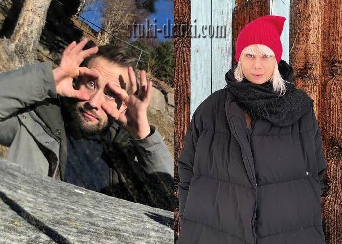 Дмитрий Шепелев и Екатерина Тулупова в красной шапке