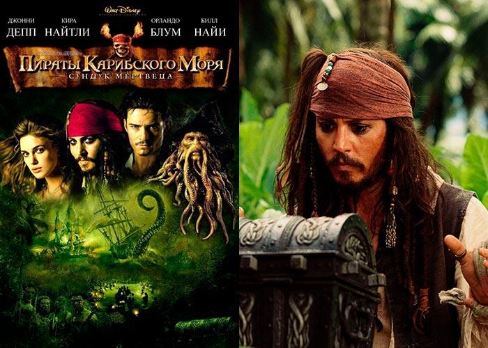 постер фильм Пираты Карибского моря Сундук мертвеца