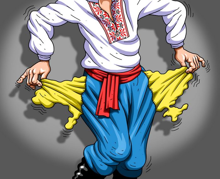 карикатура Украина банкрот
