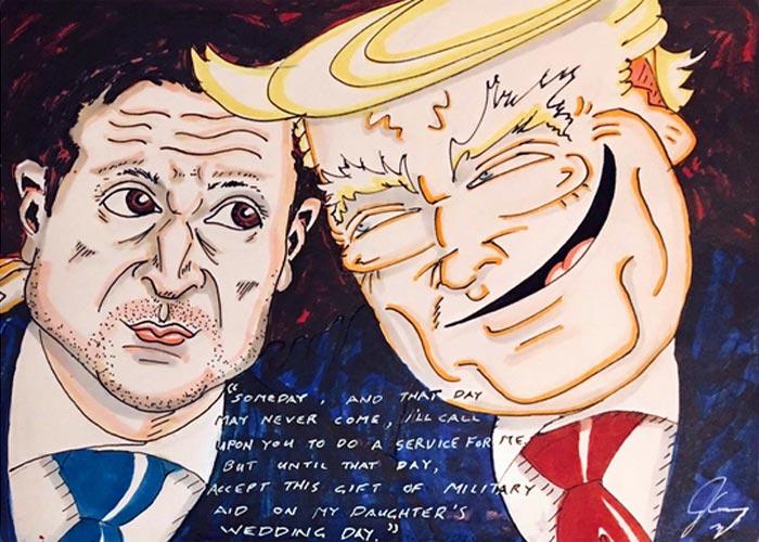 карикатура Трамп и Зеленский