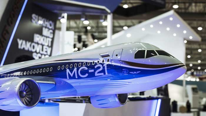 ВИДЕО: самолет МС-21-300 представлен публике